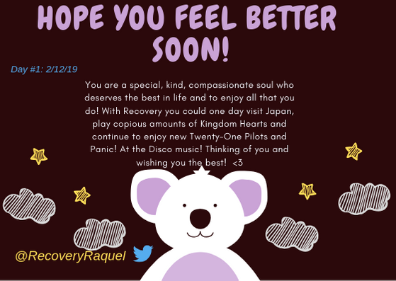 Hope You feel better Soon! - Card 1 for Athena - 2.12.19